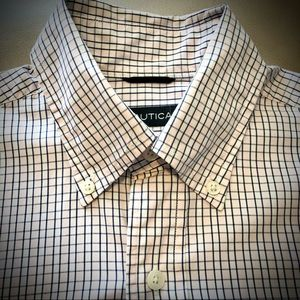 Nautica 80's Two Ply Cotton Blue/Pink Button Down